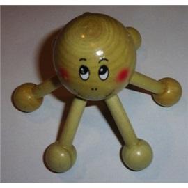 Dřevěná chobotnice - hračka