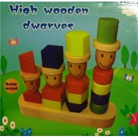 Dřevěná hračka - trpaslíci